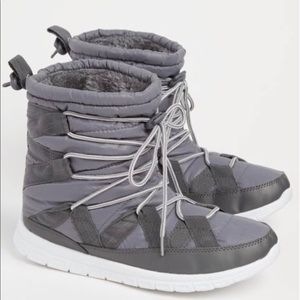 Shoes - 💝 🎁 New Womens Black Strapped Faux Fur Snow Boot